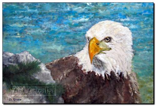 Aquila su roccia