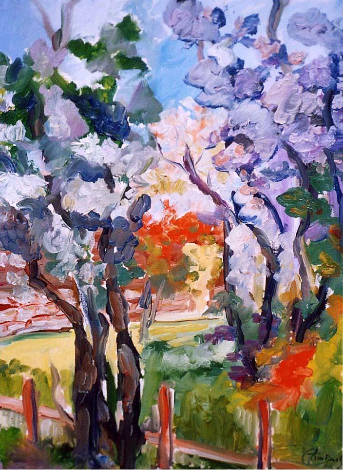 2004   Primavera alle Tre Fontane  Olio su tela 50x70
